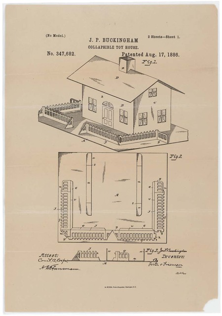 Drawing for a Collapsible Toy House