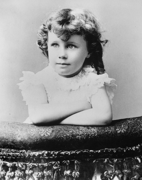 Childhood Portrait of Bess Truman at About Age 4 1/2