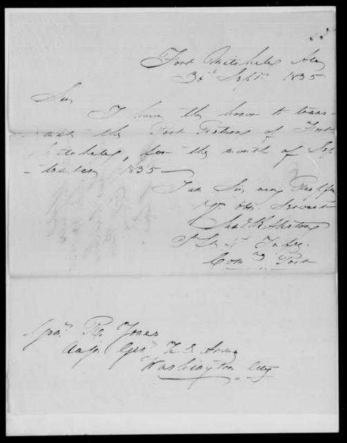 Allston, Sam R - State: Alabama - Year: 1835 - File Number: A154