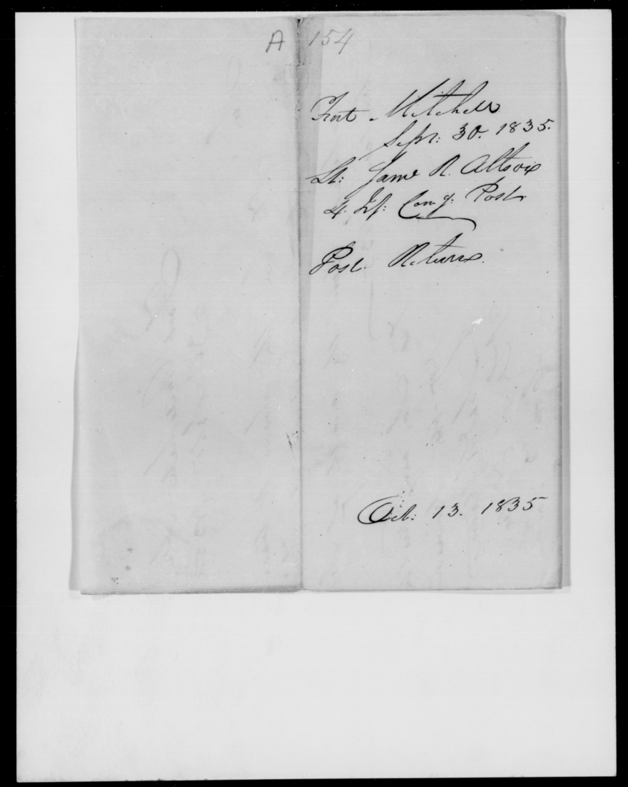 Allston, Same R - State: Alabama - Year: 1835 - File Number: A154