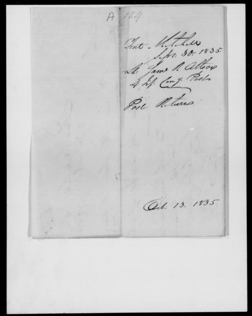 Allston, Same R - State: Alabama - Year: 1835 - File Number: A154