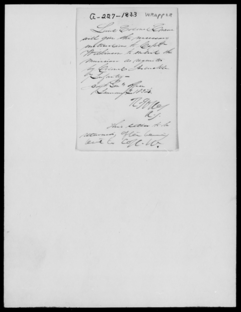 Arbuckle, [Blank] - State: [Blank] - Year: 1833 - File Number: A227