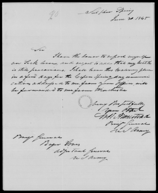 Armistead, Will - State: District of Columbia - Year: 1845 - File Number: A90