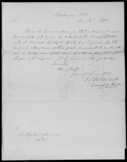 Balton, F S - State: Alabama - Year: 1835 - File Number: B29