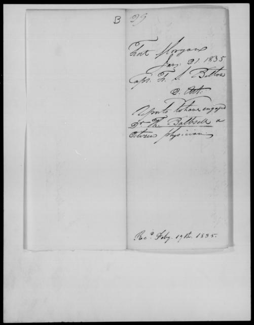 Belton, F S - State: Alabama - Year: 1835 - File Number: B29