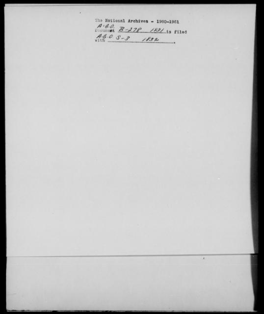Benton, H - State: [Blank] - Year: 1831 - File Number: B278