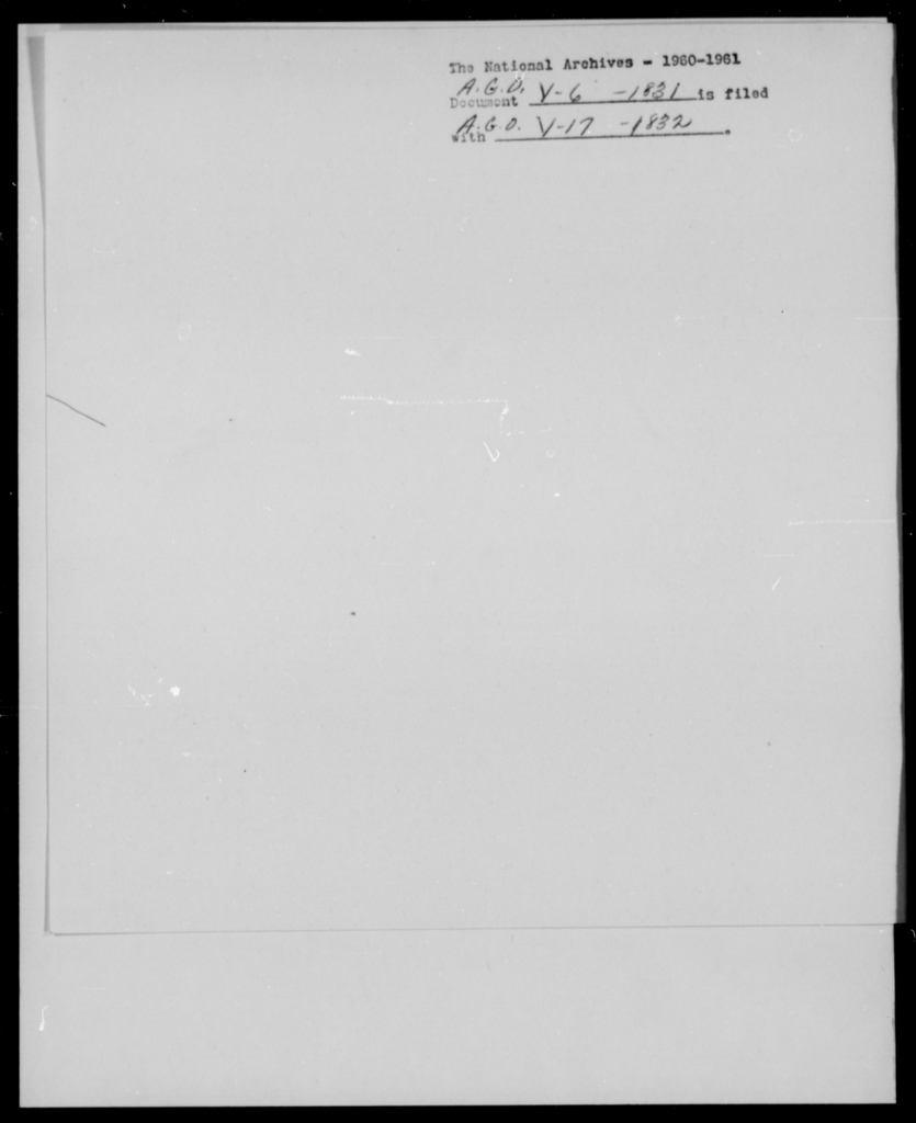 [Blank], [Blank] - State: [Blank] - Year: 1831 - File Number: V6
