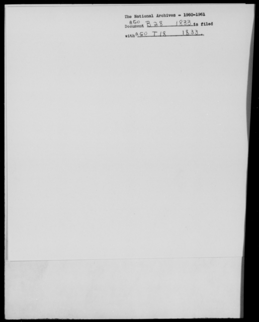 [Blank], [Blank] - State: [Blank] - Year: 1833 - File Number: B28