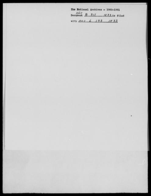 [Blank], [Blank] - State: [Blank] - Year: 1833 - File Number: B311
