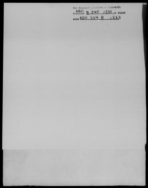 [Blank], [Blank] - State: [Blank] - Year: 1833 - File Number: B345