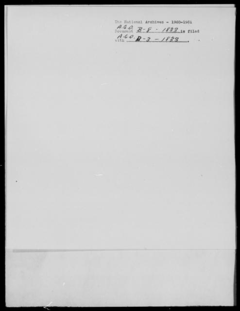 [Blank], [Blank] - State: [Blank] - Year: 1833 - File Number: B8