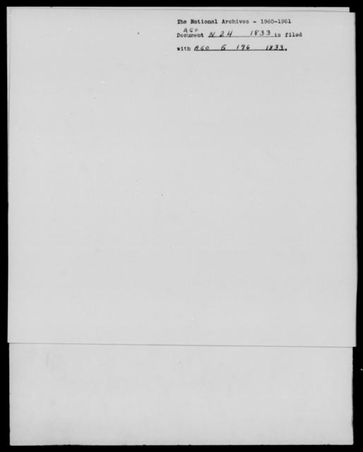 [Blank], [Blank] - State: [Blank] - Year: 1833 - File Number: N24