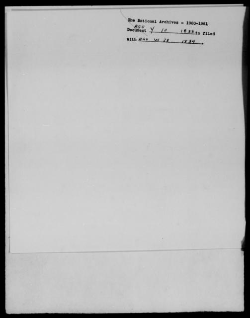 [Blank], [Blank] - State: [Blank] - Year: 1833 - File Number: Y10