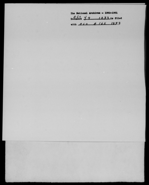 [Blank], [Blank] - State: [Blank] - Year: 1833 - File Number: Y9
