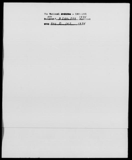 [Blank], [Blank] - State: [Blank] - Year: 1835 - File Number: B254