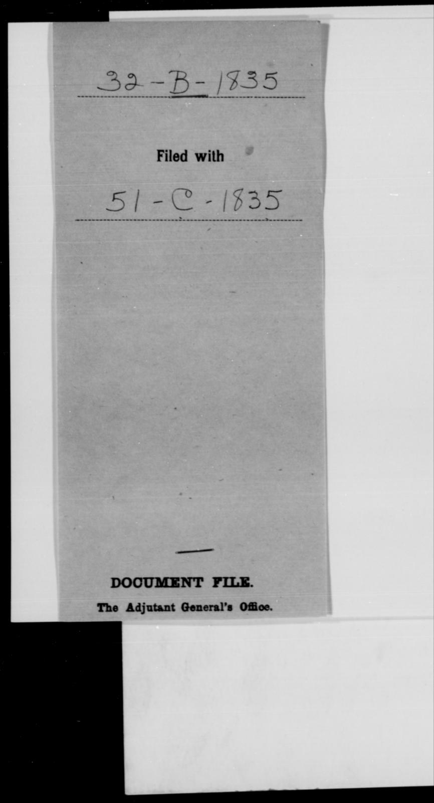 [Blank], [Blank] - State: [Blank] - Year: 1835 - File Number: B32