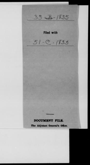 [Blank], [Blank] - State: [Blank] - Year: 1835 - File Number: B33