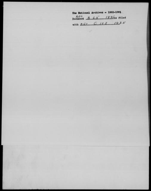 [Blank], [Blank] - State: [Blank] - Year: 1835 - File Number: B65