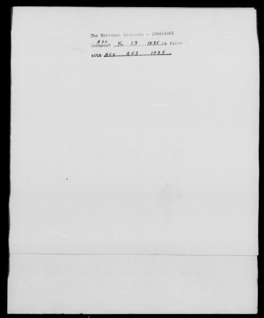 [Blank], [Blank] - State: [Blank] - Year: 1835 - File Number: K13