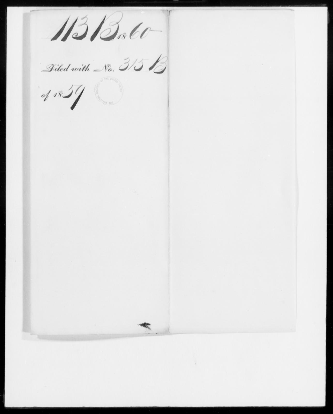 [Blank], [Blank] - State: [Blank] - Year: 1860 - File Number: B113