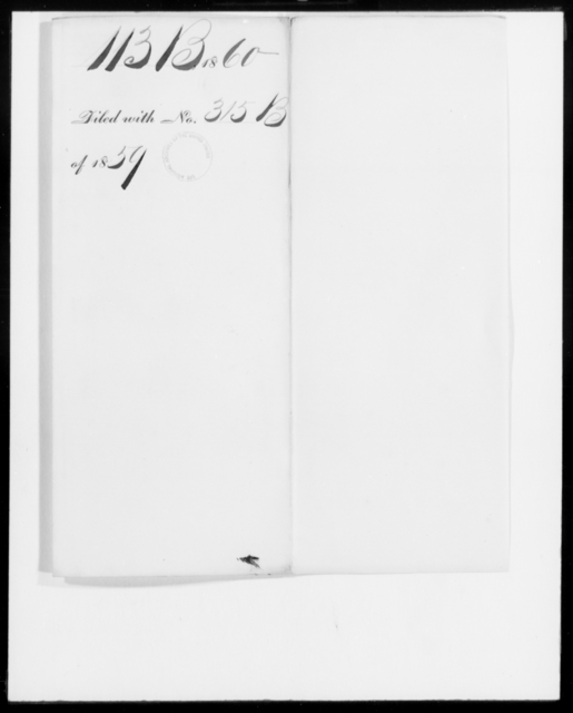 [Blank], [Blank] - State: [Blank] - Year: 1860 - File Number: B113