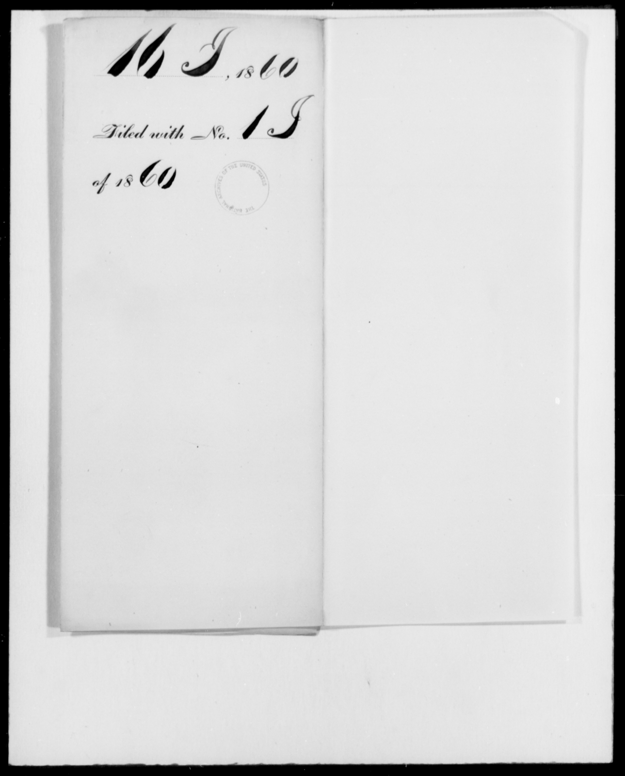 [Blank], [Blank] - State: [Blank] - Year: 1860 - File Number: I16