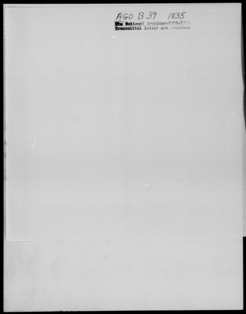 [Blank], [Blank] - State: District of Columbia - Year: 1835 - File Number: B39