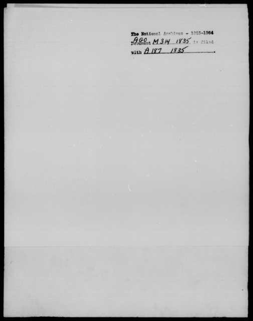 [Blank], [Blank] - State: District of Columbia - Year: 1835 - File Number: M314