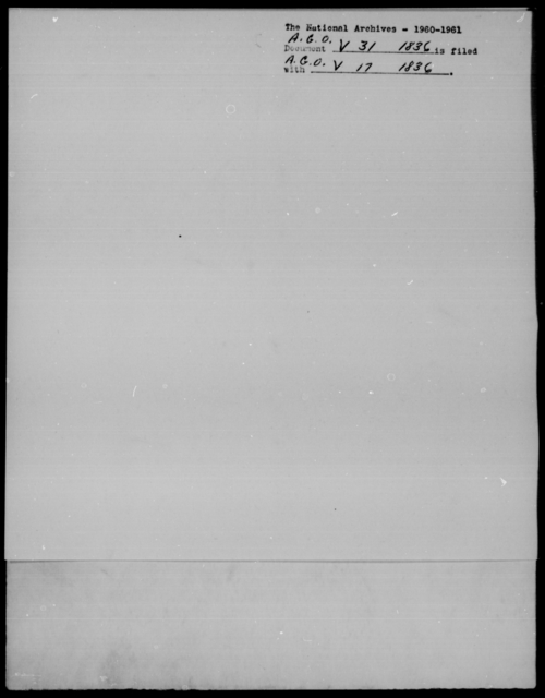 [Blank], [Blank] - State: District of Columbia - Year: 1836 - File Number: V31