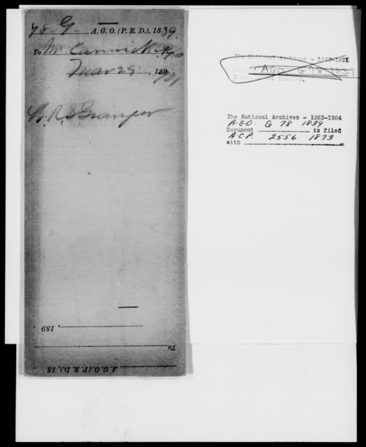 [Blank], [Blank] - State: District of Columbia - Year: 1839 - File Number: G78