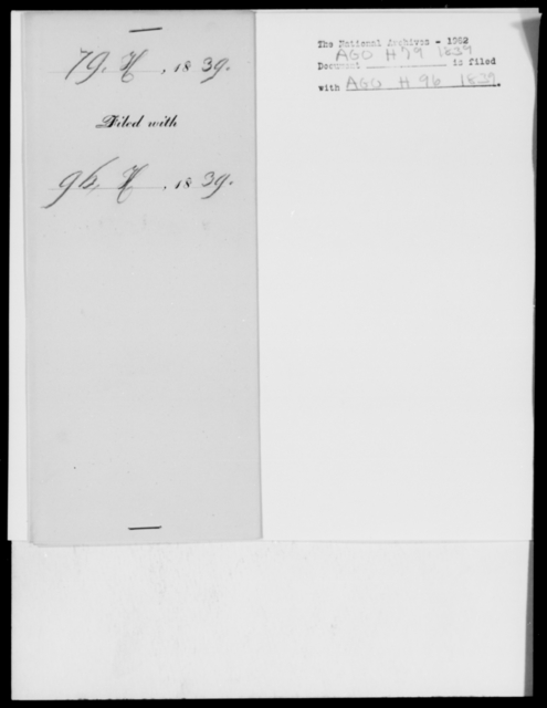 [Blank], [Blank] - State: District of Columbia - Year: 1839 - File Number: H79