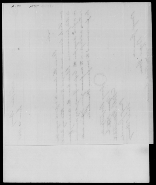 [Blank], [Blank] - State: District of Columbia - Year: 1845 - File Number: A90