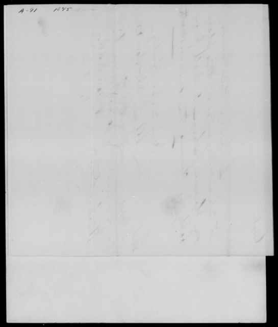[Blank], [Blank] - State: District of Columbia - Year: 1845 - File Number: A91
