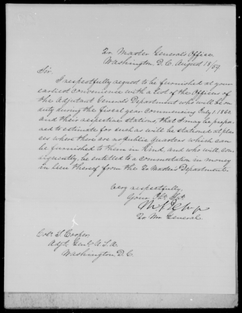[Blank], [Blank] - State: District of Columbia - Year: 1859 - File Number: Q27