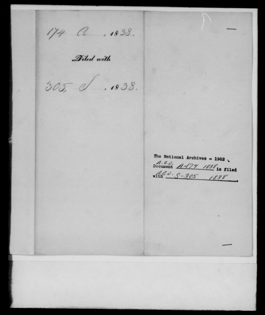 [Blank], [Blank] - State: Kentucky - Year: 1838 - File Number: A174