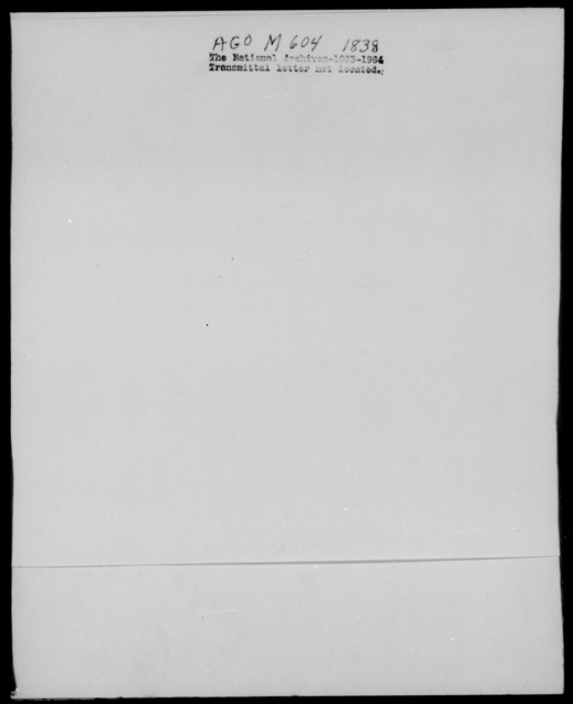 [Blank], [Blank] - State: Louisiana - Year: 1838 - File Number: M604