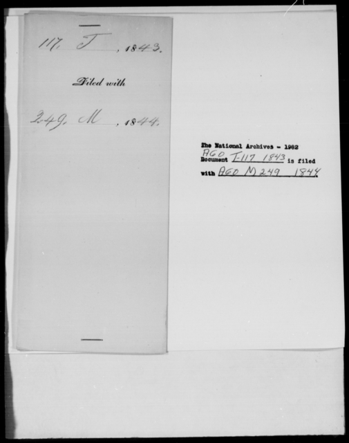 [Blank], [Blank] - State: Louisiana - Year: 1843 - File Number: T117