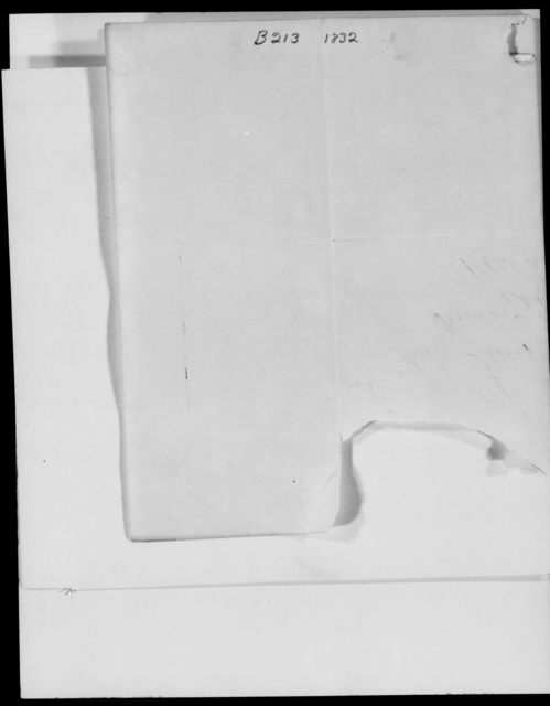 [Blank], [Blank] - State: Massachusetts - Year: 1832 - File Number: B213