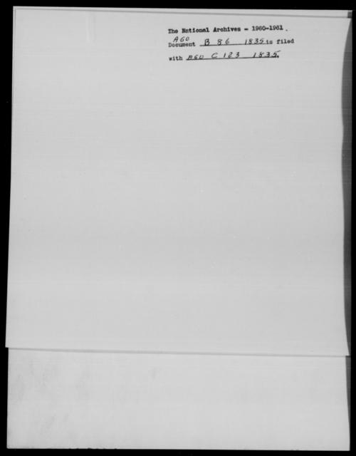 [Blank], [Blank] - State: Massachusetts - Year: 1835 - File Number: B86