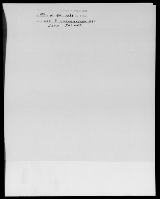 [Blank], [Blank] - State: Massachusetts - Year: 1838 - File Number: W49