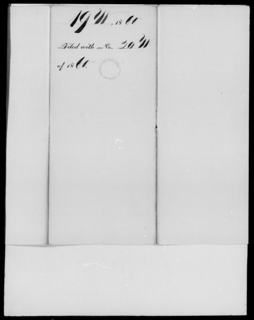 [Blank], [Blank] - State: Missouri - Year: 1860 - File Number: W19