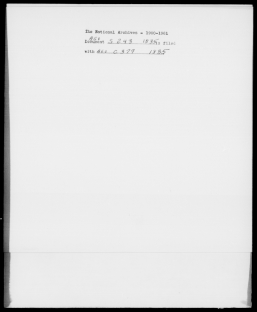 [Blank], [Blank] - State: New York - Year: 1835 - File Number: S243