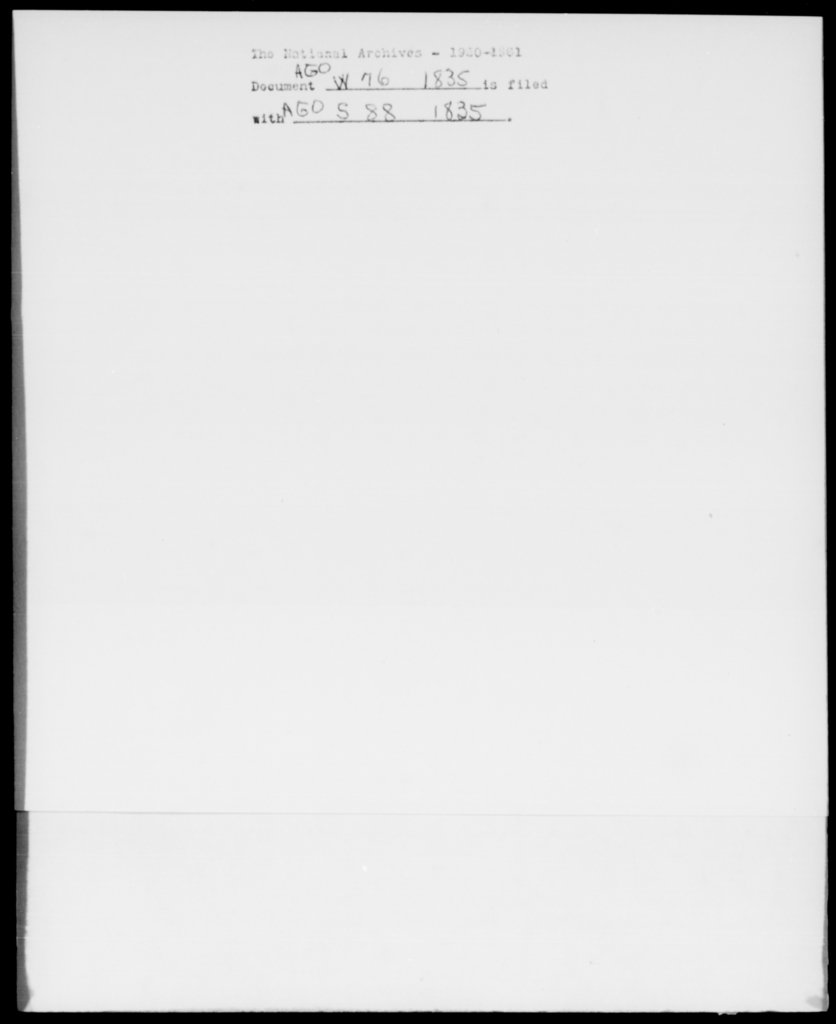 [Blank], [Blank] - State: New York - Year: 1835 - File Number: W76