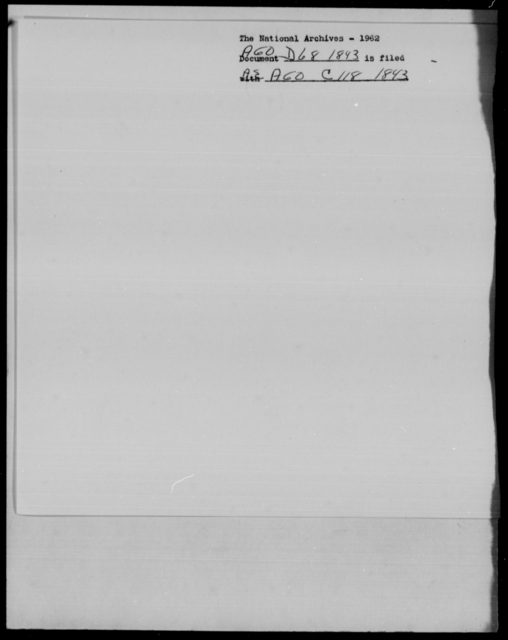 [Blank], [Blank] - State: New York - Year: 1843 - File Number: D68