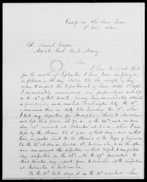 [Blank], [Blank] - State: Texas - Year: 1860 - File Number: I72