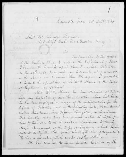 [Blank], [Blank] - State: Texas - Year: 1860 - File Number: I81
