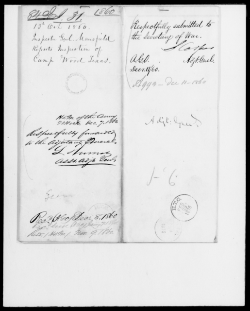 [Blank], [Blank] - State: Texas - Year: 1860 - File Number: I84