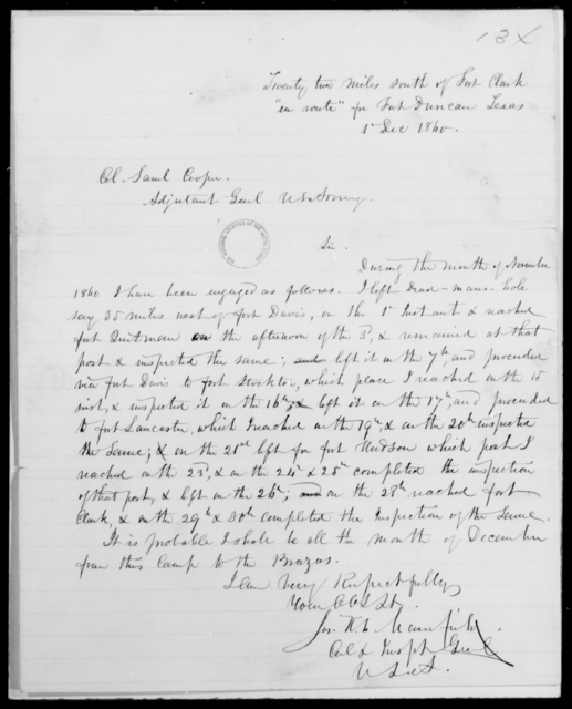 [Blank], [Blank] - State: Texas - Year: 1860 - File Number: I89