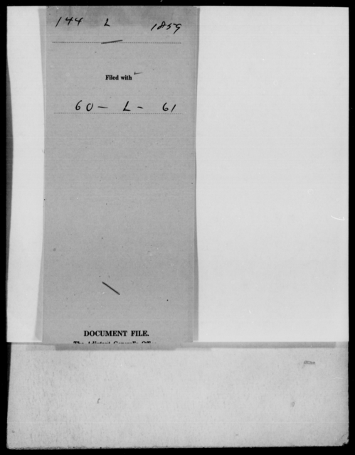[Blank], [Blank] - State: Virginia - Year: 1859 - File Number: L144