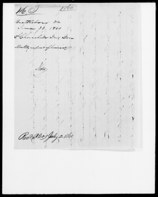 [Blank], [Blank] - State: Virginia - Year: 1860 - File Number: I46